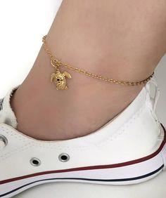 Turtle Anklet Boho Anklet Turtle Jewelry Gold Anklet Ankle