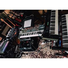 Back into the void. #GearPorn #StudioPorn #Roland #Juno...
