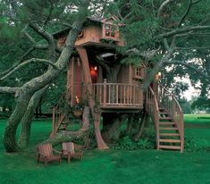 World's Coolest Tree House Ever | Anyone want to give a couple hard working starving artists a loan?