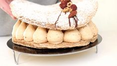 Succès au praliné ultra gourmand - Recette Olivia Pâtisse Gluten Free Cakes, Brownie Cookies, No Bake Cake, Macarons, Food Inspiration, Camembert Cheese, Panna Cotta, Caramel, Dessert Recipes