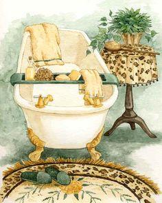 Bath room walls paper vintage bathtubs ideas for 2019 Vintage Diy, Decoupage Vintage, Decoupage Paper, Vintage Pictures, Vintage Images, Vintage Bathtub, Vintage Bathrooms, Bathroom Pictures, Bath Pictures