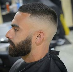Coiffure The Effective Pictures We Offer You About colored hairstyles for brunettes A quality pictur Short Fade Haircut, High And Tight Haircut, Best Short Haircuts, Haircuts For Men, Short Hair Cuts, Fade Haircut With Beard, Hair And Beard Styles, Curly Hair Styles, Curly Hair Men