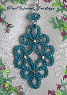 184 Likes, 2 Comments - Наталь Tatting Earrings, Tatting Jewelry, Tatting Lace, Shuttle Tatting Patterns, Needle Tatting Patterns, Granny Square Crochet Pattern, Double Crochet, Lace Patterns, Crochet Patterns