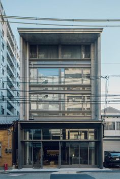 Boutique Design, Industrial Chic, Kyoto, Blinds, Barry Mcgee, Concrete, Brick, Multi Story Building, Gerhard Richter