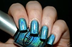 Holographic BLUE Halo Hue by Color Club OVER THE MOON