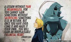 An Irreplacable Full Metal Heart! ᕙ( ^‿ゝ^) credits to thatspeakstome Visit Anime Huggies / www.AnimeDakimakuraPillow.com for more! #anime #fullmetalalchemist #animequote