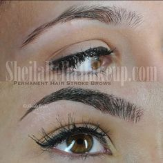Thanks to Micro Hair Stroke Technology our semi-permanent makeup looks so natura. - The World of Makeup Permanent Makeup Eyebrows, Semi Permanent Makeup, Eye Makeup, Hair Makeup, Eye Brows, Eyebrow Game, Hair And Makeup Tips, Cosmetic Tattoo, Microblading Eyebrows