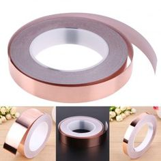 The copper foil is of a low surface oxygen characteristics, can be attached to a variety of different substrates such as metal, insulating materials, etc. Copper Foil Tape, Bronze, Hardware, Canning, Metal, January 13, Amazon Fr, Surface, Products