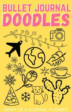 The ultimate list of all the best bullet journal doodles you need to try out. Complete with doodle tutorials and drawing guides. #bulletjournaldoodles #howtodraw #doodles #bujo #doodling #bulletjournalideas Easy Doodles Drawings, Easy Doodle Art, Love Doodles, Simple Doodles, Doodles Zentangles, Zentangle Patterns, Doodle For Beginners, Doodle Diary, Doodle Quotes