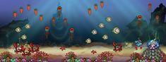 Image result for 2d underwater pixel art design Pixel Art, Underwater, 2d, Concept Art, Flag, Painting, Character, Design, Conceptual Art