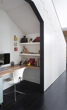 work space idea under the stairs
