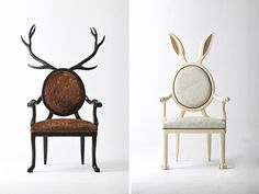 Take a look at these stunning zoomorphic chairs created by industrial designer Merve Kahraman!  To find about it and other great designs more, check www.design-beef.com