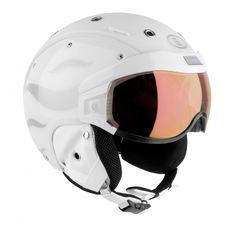 Bogner Helmet w/Visor Flames White Large, Head Size 59 - 63 cm Ski Helmets, Ski Gear, Mens Skis, White Stone, Bicycle Helmet, Skiing, Winter Snow, Accessories, Cold