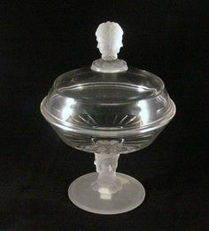 EAPG Covered Compote THREE FACE Pattern - 1878 Early American Pattern Glass
