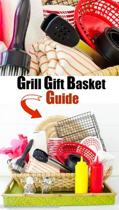 Fun Grill Gift Basket Idea / Perfect birthday or Father's Day gift. How to create the ultimate grill gift basket with Homegoods finds.