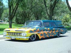 Nice custom two door 1959 Chevy Wagon.