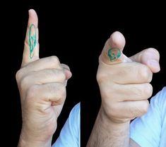 Pablo Garcia, anamorphic memento mori tattoo