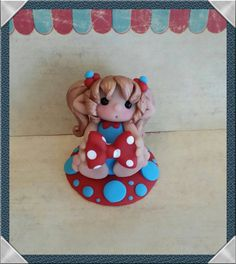 Elf Sweetie Elf Loves Bows Polymer Clay by Whimsybydesign1 on Etsy