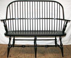 Amish Entryway Windsor Bench
