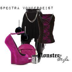 """""""Monster Style : Spectra Vondergeist"""" by missm26 on Polyvore"""