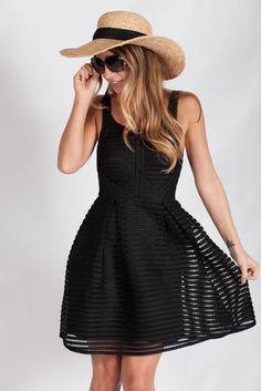 Lotus Boutique - Black Lace Fit and Flare Dress #DateNight #Dresses #Mini #NewArrivals #black #classic #classy #datenight #lace #sexy