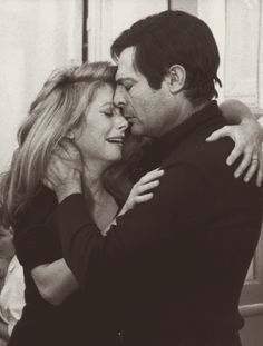Catherine Deneuve and Marcello Mastroianni in Ca n'arrive qu'aux autres directed by Nadine Trintignant, 1971