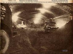 Construção do túnel Santa Bárbara (Catumbi - Laranjeiras). Revista O Cruzeiro, 5 de novembro de 1960. O túnel foi inaugurado três anos depois.  https://www.facebook.com/riosuburbio/?fref=photo
