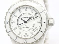 #CHANEL J12 Diamond Ceramic Automatic Mens Watch H1629 (BF104070): All of #eLADY's items are inspected carefully by expert authenticators who have years of experience. For more pre-owned luxury brand items, visit http://global.elady.com