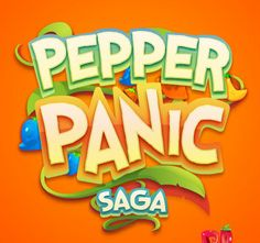 Pepper Panic Saga game logo design  #logo                                                                                                                                                                                 More