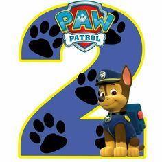 2 años Paw Patrol Birthday Decorations, Paw Patrol Birthday Theme, Paw Patrol Party, Happy Birthday Boy, Boss Birthday, 2nd Birthday Shirt, Imprimibles Paw Patrol, Dog Themed Parties, Cumple Paw Patrol