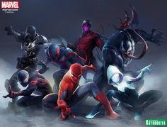 Kotobukiya lança nova linha ARTFX+ Statue com universo do Homem-Aranha