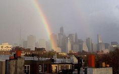 And after the storm, a rainbow. A double rainbow, actually.    Kurt Wilberding, a fashion and street photographer, snapped this Instagram photo in lower Manhattan, after Superstorm Sandy made its