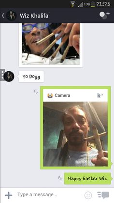 Fake Live Camera Kik App working on both Android & iOS devices! Kik Messenger, Instant Messaging, Wiz Khalifa, Snoop Dogg, The Wiz, Mobile App, Ios, Android, Weed