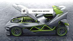 The First Crowd Sourced Sports Car Is This Badass Supercar Mashup - Car design - Motorrad Sport Cars, Race Cars, Badass, Rims For Cars, Kit Cars, Bike Design, Go Kart, Automotive Design, Custom Cars