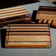 From our May Cutting Board Class - the cherry and walnut stripe in the middle looks great...