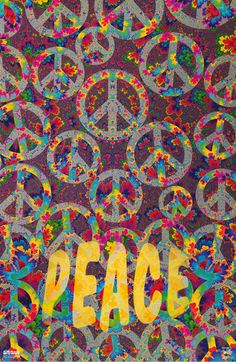 Peace Poster Peace Poster, Peace Sign Art, Peace Signs, Trippy Wallpaper, Wallpaper Backgrounds, Grateful Dead Image, Peace Sign Tattoos, Hippy Art, Indie Art