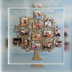 Árbol en MDF con collage de fotos familiar...Adiseña by Adriana Cano Ramos