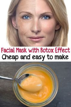 máscara facial con efecto Botox. Barato y fácil de hacer