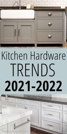 Kitchen Cabinet Hardware, Kitchen Cabinet Colors, Painting Kitchen Cabinets, Kitchen Handles, Kitchen Colors, Kitchen Hardware Trends, Kitchen Trends, Kitchen Ideas, Kitchen Design