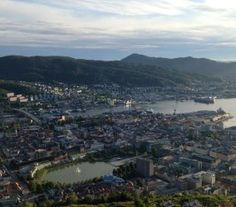 Bergen sentrum view from mointain Floyen via www. Norway Tours, Top Tours, Bergen, Beautiful Pictures, Gallery, Water, Outdoor, Water Water, Aqua