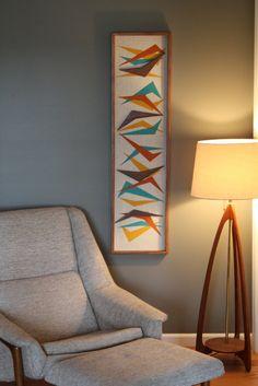 Mid Century / Danish Modern / TIKI / WITCO Styled Boomerang Wall Art. $300.00, via Etsy.
