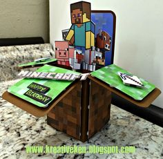 Ken's Kreations: MINECRAFT BIRTHDAY CARD