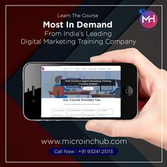 Through this Digital Marketing course, you will master the essential disciplines including SEO, social media, PPC, conversion optimization, web analytics, content marketing, email, and mobile marketing.  📲Call Us now Phone: +91 9324125113 🌐Visit: www.microinchub.com  #digitalmarketing #marketing #socialmediamarketing #socialmedia #seo #business #branding #marketingdigital #onlinemarketing #contentmarketing #entrepreneur #marketingtips #advertising #marketingstrategy #startup #smallbusiness