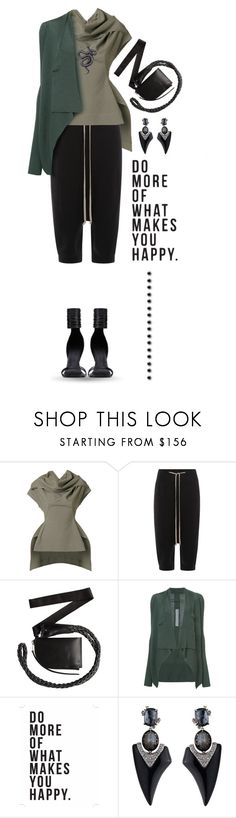 """""""My edgy side"""" by xiandrina ❤ liked on Polyvore featuring Rick Owens, Native State and Alexis Bittar"""