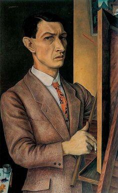 "Rudolf Wacker, Self-Portrait, 1927  More about Rudolf Wacker in my ""Weimar"" blog: weimarart.blogspot.com/2010/06/rudolf-wacker.html"