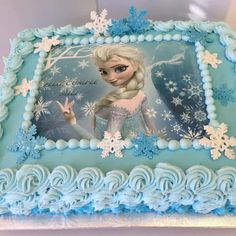 Elsa birthday cake, thinking about this for my little sister's next birthday