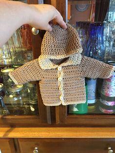 Crochet baby beanie and jacket