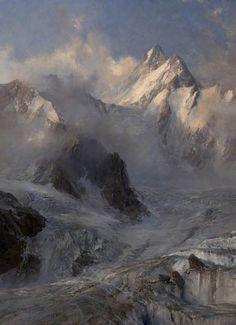 illuminate-eliminate:Glacier de Saleinaz by Edward Theodore Compton, 1906.