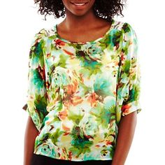 by Printed Chiffon Top - jcpenney