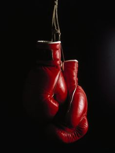 Hanging Boxing Gloves Poster - Fight